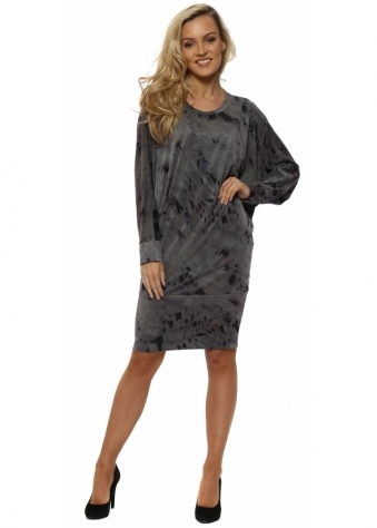 Roxy Rain Shadow Tunic Dress In Bark