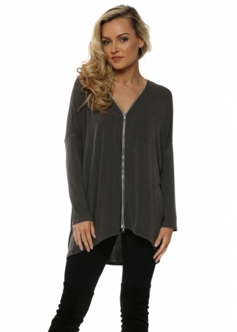 Flick Bark Melange Double Ended Zip Top