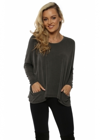 Bark Plain Pammy Slouch Jersey Top