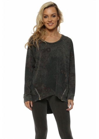 Bailee Bejewelled Bark Zip Sweater