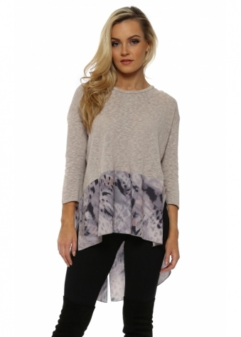 Ripley Chalk Rain Shadow Slub Knit Sweater
