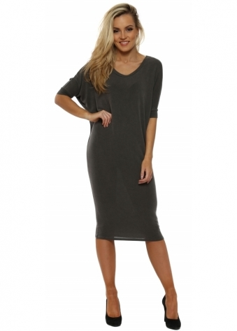 Fenella Bark Short Sleeve Tunic Dress