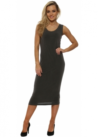 Nancy Bark Jersey Midi Dress