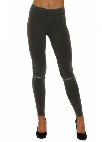 Flasher Zip Detail Bark Jersey Leggings