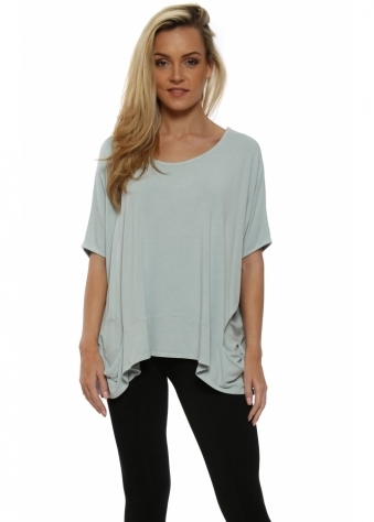 Sleeveless Pammy Slouch Jersey Top In Julep Grey