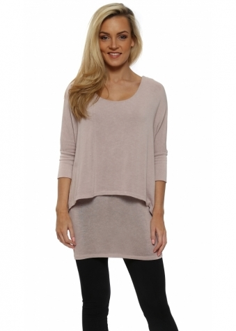 Double Layered Pink Tunic Top