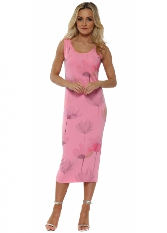 Angelina Arty Bloom Ibiza Sunrise Midi Dress