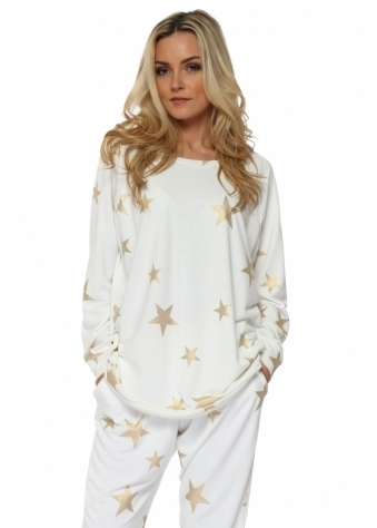 Blair Vanilla Gold Foil Star Sweater
