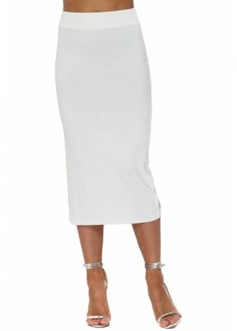 Mindy Vanilla Jersey Midi Skirt