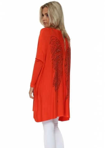 Coral Angel Wings Baggy Jumper