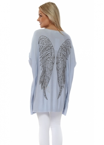 Baby Blue Angel Wings Baggy Jumper