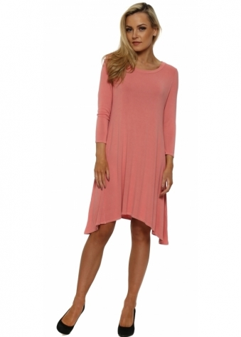 Faith Tunic Swing Tunic Dress In Copper