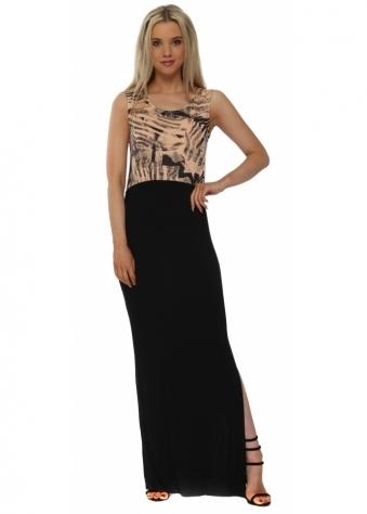 Tamra Tropical Tribe Sherbert Colour Block Maxi Dress