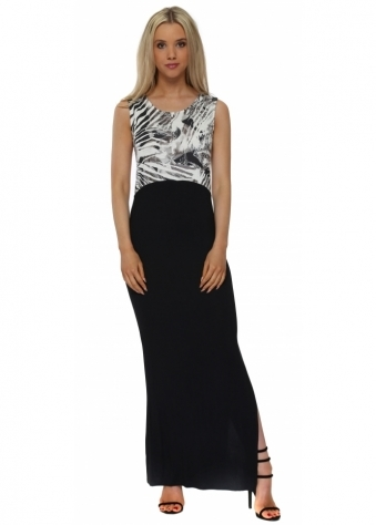 Tamra Tropical Tribe Ice Colour Block Maxi Dress