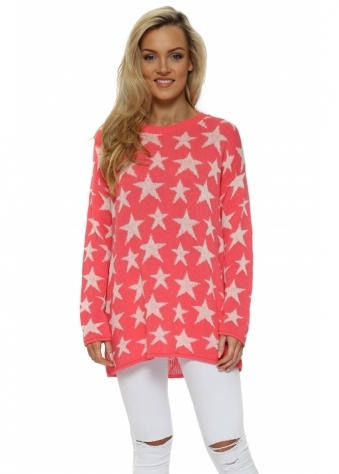Coral & Cream Ibiza Stars Soft Knit Jumper