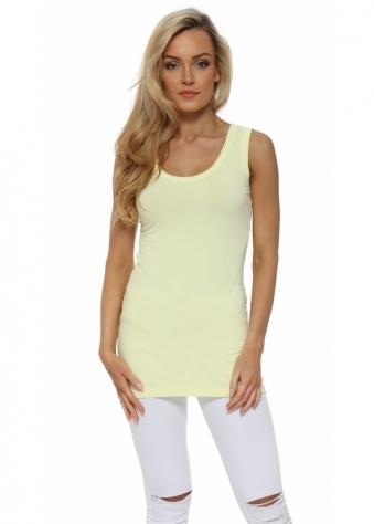 Plain Cut Edge Vest In Lemonade