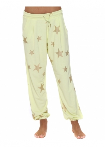 Brooke Lemonade Gold Foil Star Jogger Pants