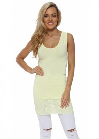 Sammy Lemonade Lace Hem Long Vest