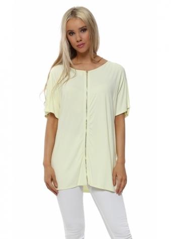 Jackie Lemonade Reversible Short Sleeve Zip Top