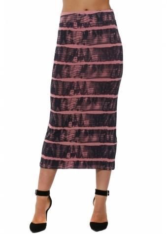 Ingrid Ibiza Tie Dye Ibiza Sunrise Midi Skirt