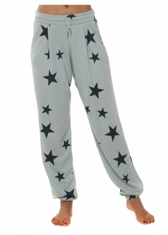Brooke Julep Grey Melange Star Jogger Pants