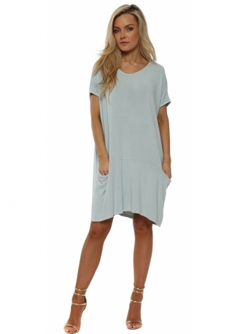 Fallon Big Pocket Dress Top In Julep Grey