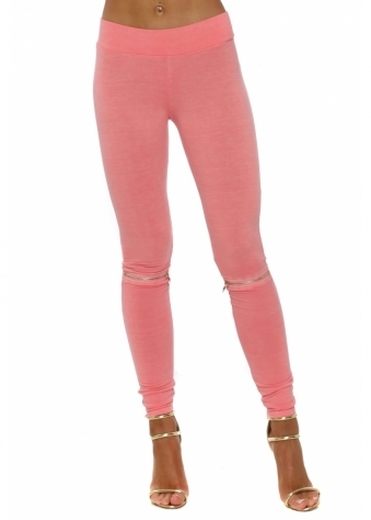 Flasher Zip Detail Ibiza Sunrise Jersey Leggings