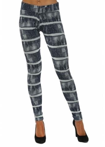 Ivanka Ibiza Tie Dye Julep Grey Jersey Leggings