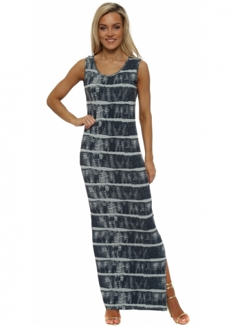 Imelda Ibiza Tie Dye Julep Grey Maxi Dress
