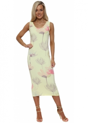 Angelina Arty Bloom Lemonade Midi Dress