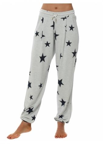 Brooke Vanilla Melange Star Jogger Pants