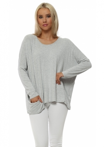 Vanilla Melange Pammy Slouch Jersey Top