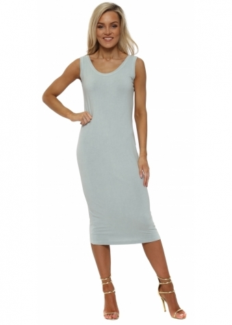 Nancy Julep Grey Jersey Midi Dress