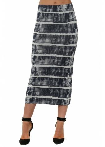 Ingrid Ibiza Tie Dye Vanilla Midi Skirt
