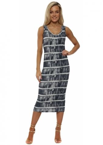 Ivy Ibiza Tie Dye Vanilla Midi Dress