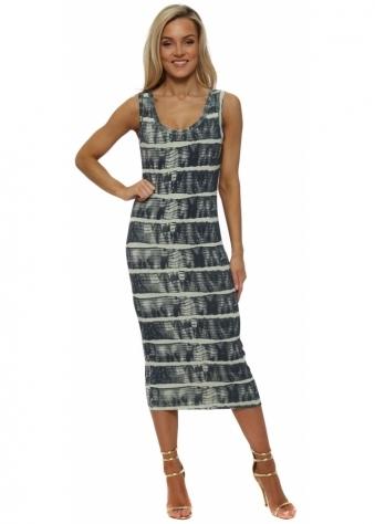 Ivy Ibiza Tie Dye Lemonade Midi Dress