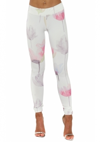 Alice Arty Bloom Vanilla Leggings