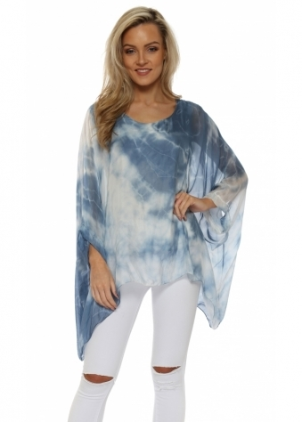 Blue Tie Dye Baggy Top