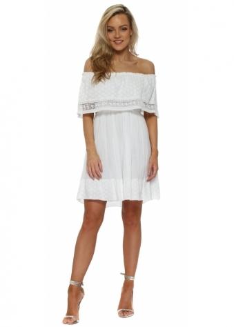 White Off The Shoulder Summer Mini Dress
