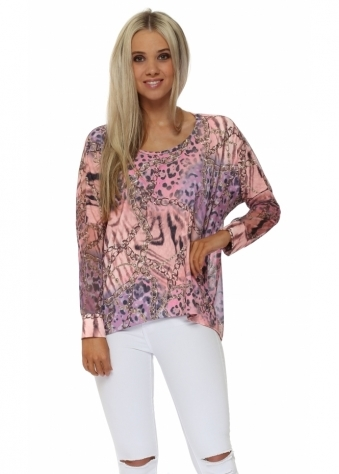 Whimsy Wild Bling Chiffon Back Top In Vanilla