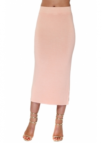Mindy Seduction Jersey Midi Skirt