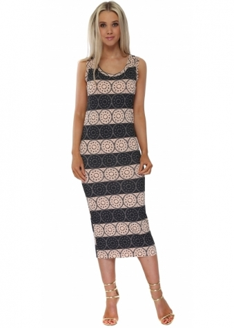 Lacey Love Lace Pencil Dress In Seduction