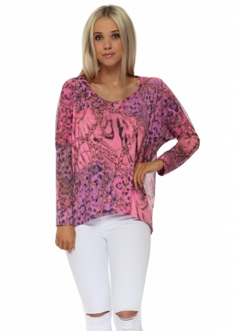 Whimsy Wild Bling Chiffon Back Top In Passionata