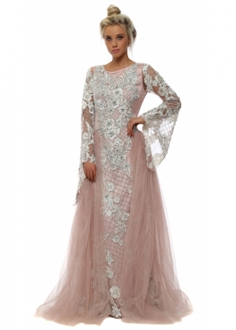 Pink Fairytale Jewelled Dress With Tulle Skirt