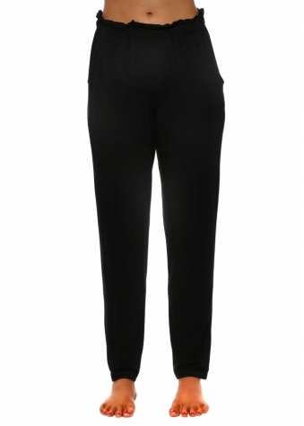 Frillers Black Loose Fit Relaxed Trousers