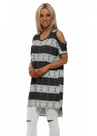 Lily Love Lace Vanilla Shoulder Tunic Top