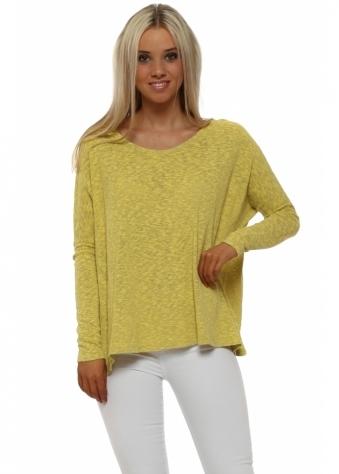 Rachel Canary Melange Slub Knit Jumper