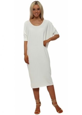 Callie Vanilla Short Sleeve Tunic Dress