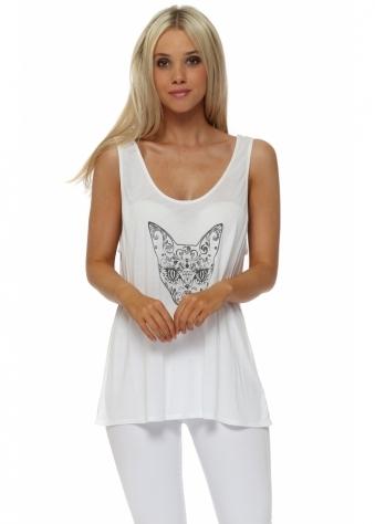Yoga White Karma Kitten Baggy Vest