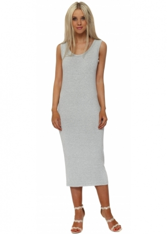 Nancy Vanilla Melange Jersey Midi Dress